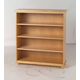 Maxtrix 4 Shelf Bookcase with Crown and Base in Natural HUGE 4-001