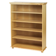 Maxtrix 5 Shelf Bookcase with Crown and Base in Natural HUGE 5-001