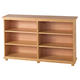 Maxtrix 6 Shelf Bookcase with Crown and Base in Natural HUGE 6-001