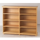 Maxtrix 8 Shelf Bookcase with Crown and Base in Natural HUGE 8-001