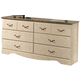 Standard Furniture Florence Six Drawer Dresser in Jura Block 59509