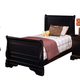 New Classic Belle Rose Youth Twin Sleigh Bed in Bordeaux Finish 00-013-510