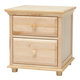 Maxtrix 2 Drawer Nightstand with Crown and Base in Natural BIG 2-001