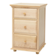 Maxtrix 3.5 Drawer Nightstand with Crown and Base in Natural BIG 3.5-001