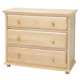 Maxtrix 3 Drawer Dresser with Crown and Base in Natural BIG 3-001