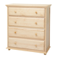 Maxtrix 4 Drawer Chest with Crown and Base in Natural BIG 4-001