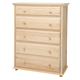 Maxtrix 5 Drawer Chest with Crown and Base in Natural BIG 5-001