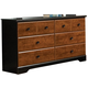 Standard Furniture Steelwood Six Drawer Dresser in Vinza Oak & Madison Cherry 61259