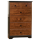 Standard Furniture Steelwood Five Drawer Chest in Vinza Oak & Madison Cherry 61255