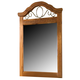 Standard Furniture Hester Heights Panel Mirror in Dark Old Fashion Wood 61168