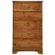 Standard Furniture Hester Heights Five Drawer Chest in Dark Old Fashion Wood 61155