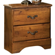 Standard Furniture Hester Heights Nightstand in Dark Old Fashion Wood 61157