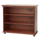Maxtrix 3 Shelf Bookcase with Crown and Base in Chestnut HUGE 3-003