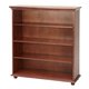 Maxtrix 4 Shelf Bookcase with Crown and Base in Chestnut HUGE 4-003