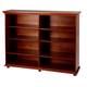 Maxtrix 8 Shelf Bookcase with Crown and Base in Chestnut HUGE 8-003