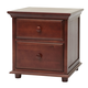 Maxtrix 2 Drawer Nightstand with Crown and Base in Chestnut BIG 2-003
