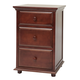Maxtrix 3.5 Drawer Nightstand with Crown and Base in Chestnut BIG 3.5-003