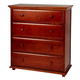 Maxtrix 4 Drawer Chest with Crown and Base in Chestnut BIG 4-003