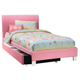 Standard Furniture Fantasia Twin Upholstered Youth Trundle Bed in Pink 60758