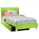 Standard Furniture Fantasia Twin Upholstered Youth Trundle Bed in Green 60766