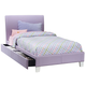Standard Furniture Fantasia Twin Upholstered Youth Trundle Bed in Lavender 60768
