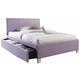 Standard Furniture Fantasia Full Upholstered Youth Trundle Bed in Lavender 60798
