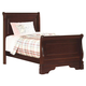 New Classic Versaille Youth Full Sleigh Bed in Bordeaux Finish 1040-411