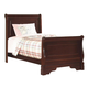 New Classic Versaille Youth Twin Sleigh Bed in Bordeaux Finish 1040-511
