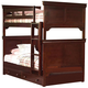 New Classic Versaille Youth Twin Twin Bunk Bed in Bordeaux Finish 05-010-518