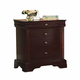 New Classic Versaille Youth 3 Drawer Night Stand in Bordeaux Finish 1040-045