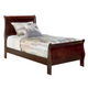 Standard Furniture Lewiston Twin Panel Bed in Deep Brown 80421