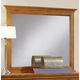 All-American Forsyth Landscape Mirror in Medium Oak