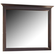 All-American Mother's Collection Landscape Mirror in Merlot