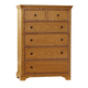 All-American Mother's Collection 5-Drawer Chest in Medium Oak