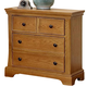 All-American Mother's Collection 3-Drawer Night Stand in Medium Oak
