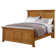 All-American Mother's Collection Eastern King Panel Bed in Medium Oak