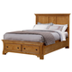 All-American Mother's Collection Eastern King Panel Storage Bed in Medium Oak
