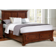 All-American Forsyth Eastern King Panel Storage Bed in Cherry
