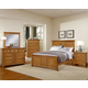 All-American Mother's Collection Panel Bedroom Set A in Medium Oak
