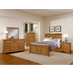 All-American Mother's Collection Panel Bedroom Set B in Medium Oak