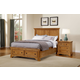 All-American Mother's Collection Panel Storage Bed Bedroom Set in Medium Oak