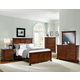 All-American Forsyth Panel Bedroom Set in Cherry