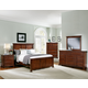 All-American Mother's Collection Panel Bedroom Set in Cherry