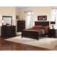All-American Forsyth Panel Bedroom Set A in Merlot