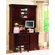 New Classic Versaille Youth Desk Hutch in Bordeaux Finish 1040-092