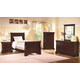 New Classic Versaille Youth Sleigh Bedroom Set in Bordeaux Finish 10