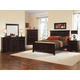 All-American Mother's Collection Panel Bedroom Set B in Merlot
