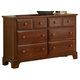 All-American Jefferson/Madison 6-Drawer Dresser in Cherry