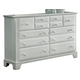 All-American Hamilton/Franklin 7-Drawer Triple Dresser in Snow White
