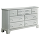 All-American Hamilton/Franklin 10-Drawer Vanity Dresser in Snow White